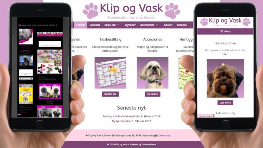 Klipogvask.dk Responsive