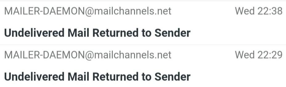 Mailchannels mails blev afvist af TDCs mailserver